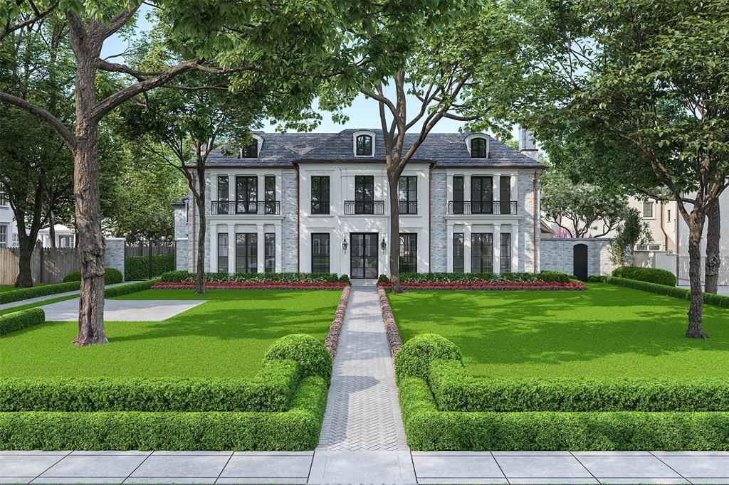 With formal proportions & classic design, 3024 Del Monte Dr. is a stately new construction by FiftySeventh+7th. Expected to be completed by 03/21, this 6 bed, 6.4 bath, 10,340 sqft estate will be a new icon of timeless design in the heart of River Oaks. The thoughtful floor plan includes a formal entry flanked by exquisite dining & library, both w/fireplaces. Open to the window-lined family room, the gourmet kitchen features top of the line upgrades including a Lacanche range. The separate catering kitchen, wine rm, dual pantries, & bar are designed for large-scale entertaining. All bedroom suites up, including the luxurious master suite w/Venetian plaster pitched ceiling, fireplace, private patio, & Calacatta-clad spa retreat. Additional interior spaces include an elevator, gym w/sauna+steam shower, game rm. Interiors by Countour Design. Exterior features include an expansive loggia w/kitchen+fireplace, pool+spa w/covered terrace, 3 car lift-capable garage, gate+covered motor court
