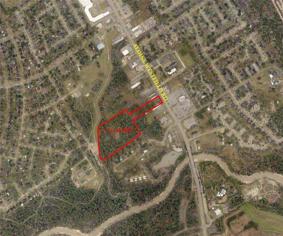 UNRESTRICTED +/- 11 ACRES!!!  Aldine Westfield FRONTAGE!  Property has 2 tax ID's: 119-617-001-0001 and 043-209-000-1240. Excellent location for industrial, horses, mobile home park, RV park, independent living facility, storage facility.