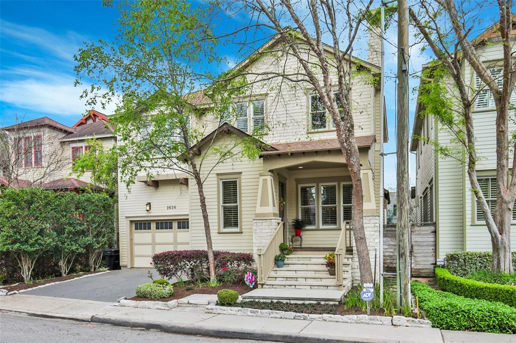 """Best of both worlds. Luxury living inside & out for this Woodland Heights home. Just a short drive from downtown. Very spacious & open layout, plus amazing architectural features (gorgeous crown molding, tray ceiling in master, wood ceiling beams in living room). You'll find your lushly landscaped backyard retreat shaded by mature trees and walking distance to nearby Woodland Park & White Oak Bayou Trail. Between the island kitchen with 48"""" gas range & double oven, butler's pantry with wine cooler, and beautiful formals, this home is ready to host its next dinner party. As you walk in there is a formal area for dining and living. Butlers pantry to one of the most beautiful kitchens in the area which opens to a family-room. Zones to Travis Elementary. The bedrooms are all upstairs and secluded and you have just enough yard to be able to enjoy city life along with Heights living."""