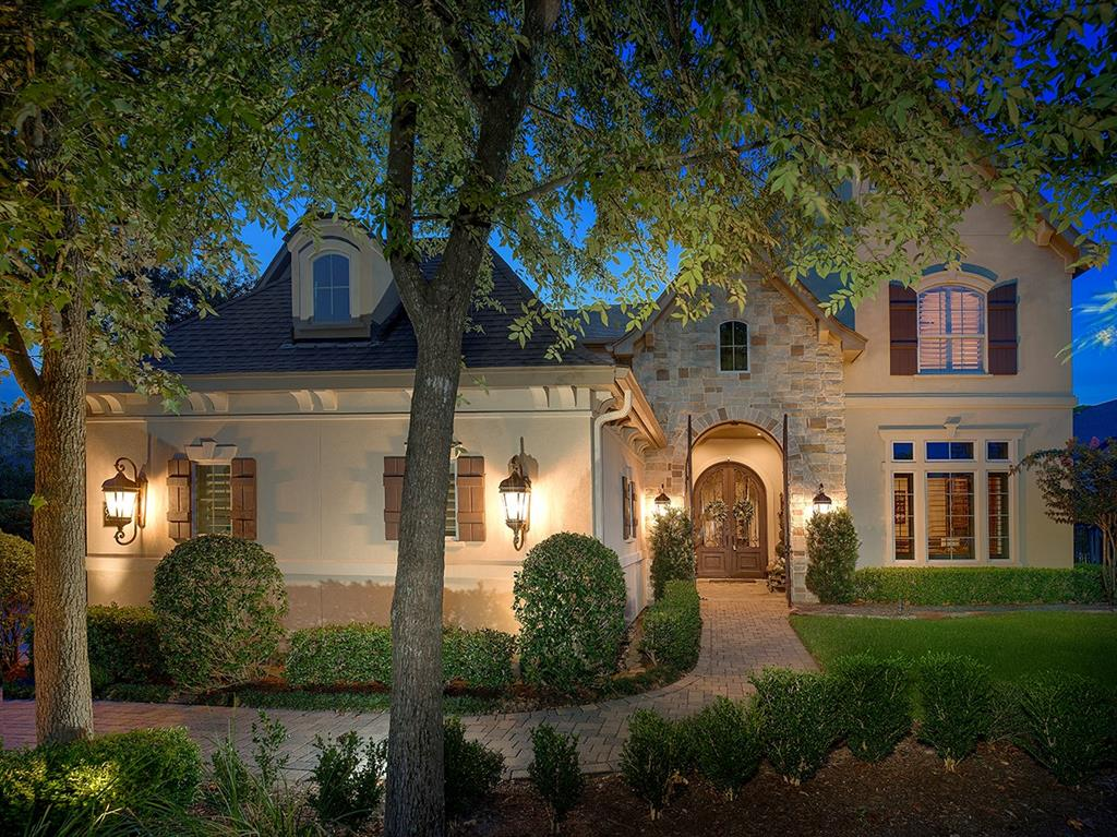 Meticulously maintained Tommy Bailey custom home nestled on a quiet cul-de-sac street in Sterling Ridge! All new interior paint & new hardwood floors! Gorgeous gated courtyard entry, wired for surround sound, security system, generator, 2 staircases, soaring ceilings, crown moulding, custom shutters & large windows throughout. 1st floor guest retreat is great for having guests, in-laws staying and/or a live in nanny or maid. It has a private entrance, full bath, flex room & cozy study w/built-in desk! Stunning island kitchen w/double oven, granite counters, abundant cabinetry & breakfast bar opens to 2 story den w/vaulted beamed ceiling & gas log FP; elegant dining w/wood beamed ceiling;study w/French doors; spacious master retreat down w/sitting area; 3 generous bedrooms, game room & study area up; 4 car garage; spectacular views of your own backyard paradise w/kitchen w/built-in Greenwich fridge, fireplace, pool & spa w/waterfall all surrounded by mature landscaping ensuring privacy!