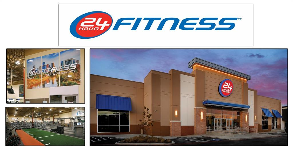 The brand new 24 hour fitness is a short walk away.