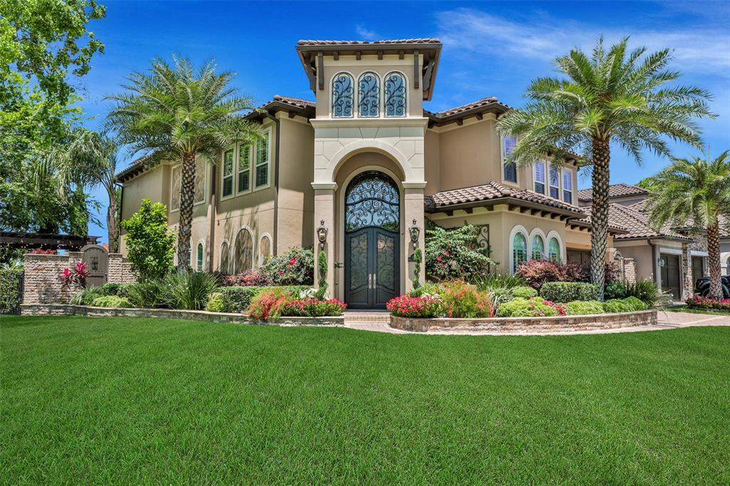 This stunning, custom built Mediterranean style home is a masterpiece in design, exquisitely finished with obsessive attention to detail. Located in the prestigious neighborhood of Lakes of Williams Ranch, this home is conveniently located to it all! With curb appeal galore, the stucco exterior exudes grandeur and elegance. Inside, you are welcomed with fine finishes throughout, Carrara Marble backsplash, Dekton Countertops in Kitchen, Laundry Room and Half Bath, Wine Grotto and Soaring Ceilings, 4-inch Plantation shutters throughout. A step outback to your private oasis reveals lavish waterfront views, a resort style pool, gourmet Outdoor Kitchen featuring 5-burner Bull Grill and a wonderful private sitting area near the water to enjoy that evening glass of wine. We invite you to come and fall in love with this custom beauty yourself! Don't forget to virtually walk this home with our MatterPort Tour!