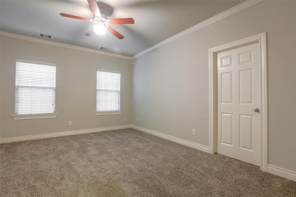 Master bedroom located on 1st floor.