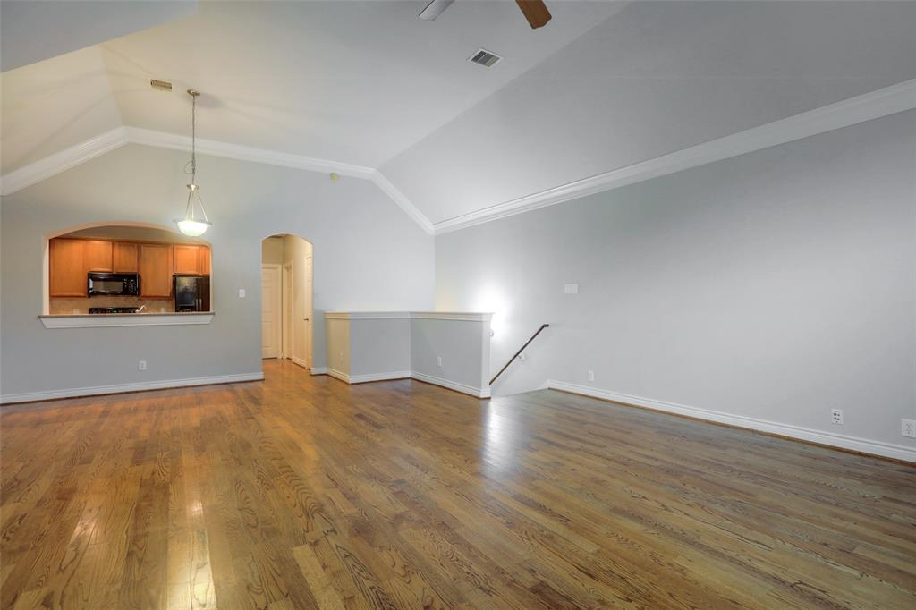 Enjoy the high ceilings and crown molding details.