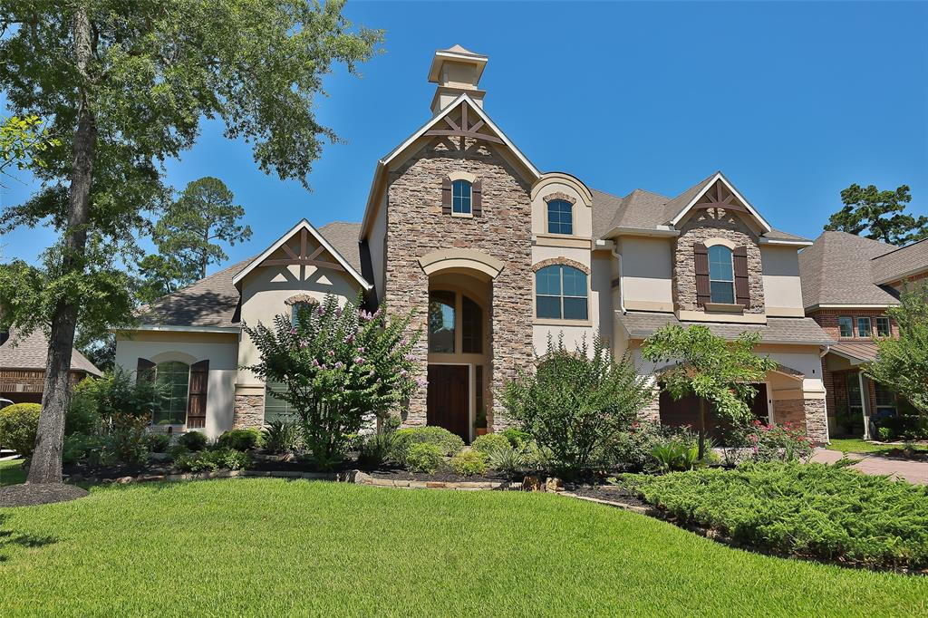 Luxury Living, this custom beautiful home backing to the Gary Player GC, has 4 bedrooms, each with their own bath. On the first floor, you will find an elegant master retreat with his and her walk-in closets. Guest suite just off the kitchen has access to the back yard and pool. The gourmet kitchen includes double ovens, gas range, and double Jennair fridge/freezer adjoining a spacious breakfast area. On the 2nd floor are two large bedrooms with their own private baths, a media room w/bar, fridge, 7.1 system installed, an exercise room, a giant game room. The fantastic outside living space includes a fully functional outdoor kitchen with grill, fridge, and sink; Enjoy your wine and cheese after work in the pergola draped with jasmine and grapevines, then take a dip in your own beautiful state of the art Ozone pool. The home also features a tiled 3-car tandem garage and a large balcony off the game room overlooking the pool. The fencing around the backyard is planted with mature jasmine