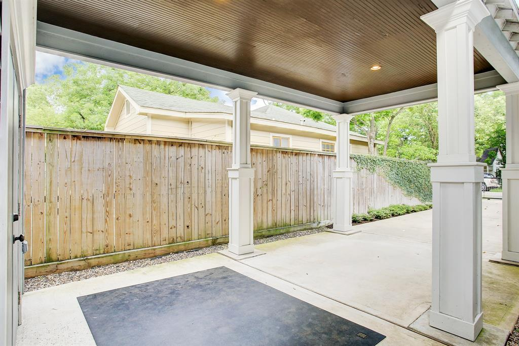 One last look at the carport, with wainscotted ceiling.  Truly no detail was overlooked in this home!