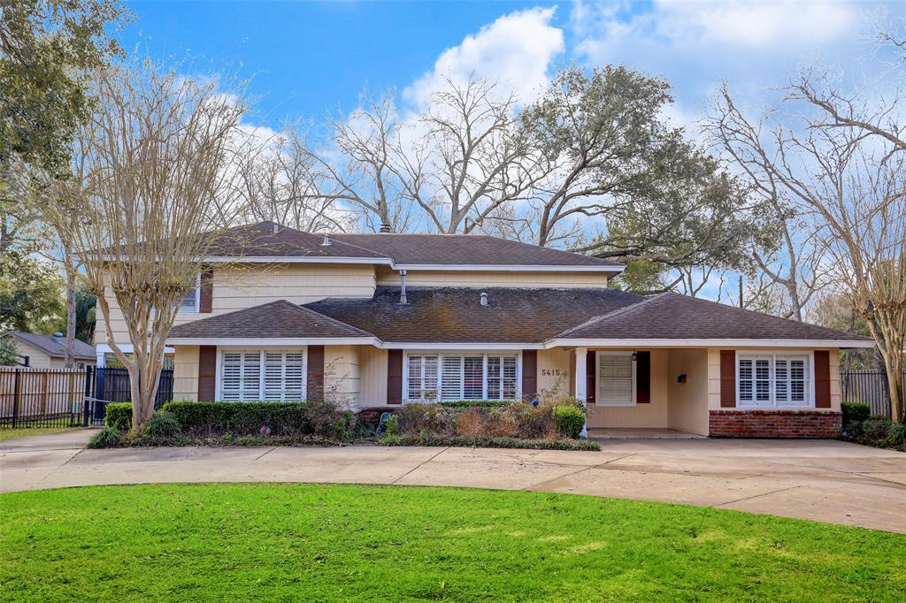 Buy now and build or renovate later.  An opportunity to buy a Bellaire home on a huge 20,475sf lot.   Park like setting with mature trees both in the back yard and along beautiful Holly Street.  The neighbors also have the large lots so there's plenty space around these properties.  Park like living yet only minutes from the Galleria, Texas Medical Center and Downtown.   Updated plumbing.   Per seller