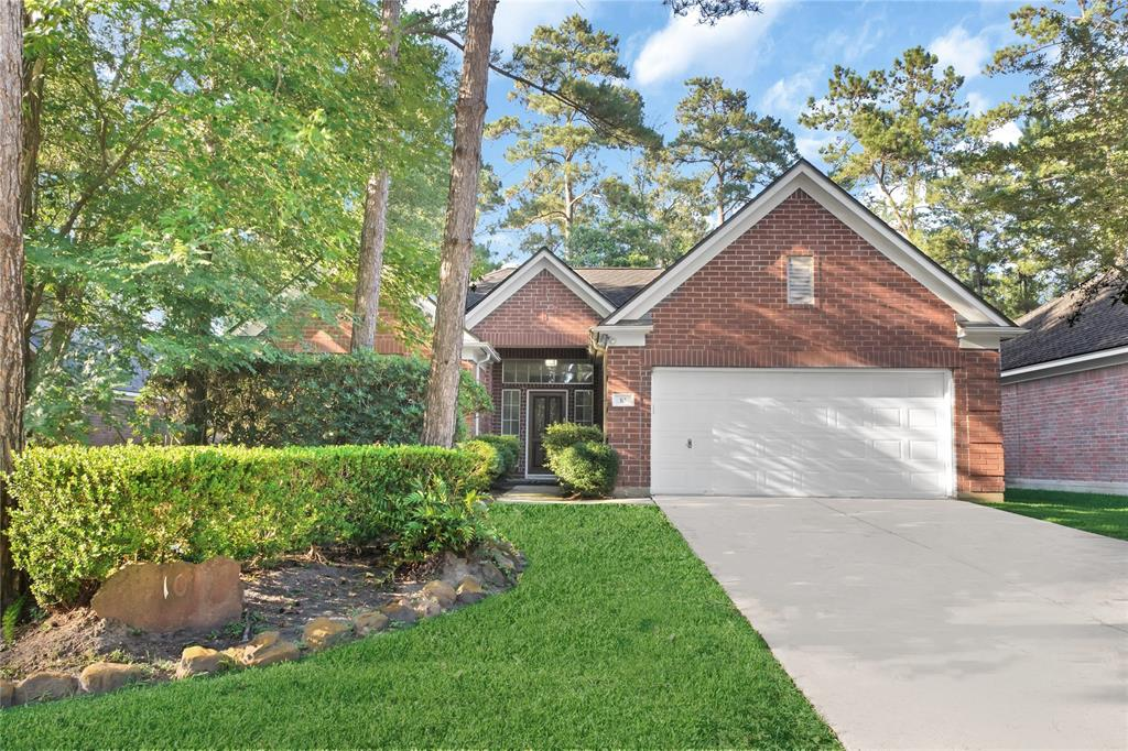 FABULOUS light & bright single story home in the highly desired neighborhood of Indigo Sky in Indian Springs. New roof March 2019. New hot water heater May 2019. The home is freshly painted, wood-like tile added throughout the entire house. New stainless steel kitchen appliances added July 2019. Quartz countertops in kitchen. Both bathrooms remodeled with new vanities. Spacious master bedroom and large secondary bedrooms with ample closet space in all. Extensive outdoor decking and professional landscaping with automatic sprinkler system in front & backyard. Large peaceful fenced backyard. Treed neighborhood walking distance to Falconwood Park and Interfaith School. Minutes from the John Cooper School & George Mitchell Preserve. Zoned to Galatas Elementary, Mitchell Intermediate, and The Woodlands High School.  Shows like new and move-in ready! Come see for yourself!! Listed for sale, as well. MUST SEE & WON'T LAST LONG!