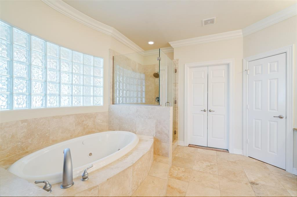You'll love the spa-like features in the master bath which include a jetted tub and separate shower.