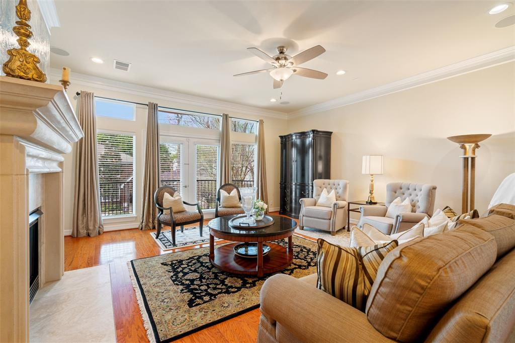 The spacious living room is a great space for entertaining or relaxing with your family.