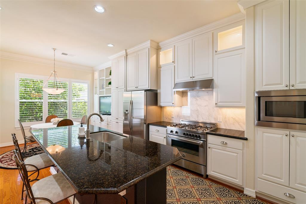 The kitchen was fully remodeled to include new cabinets, counter tops, appliances and fixtures.