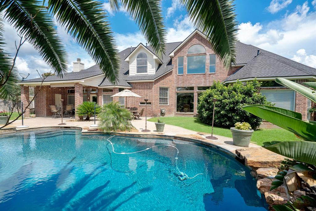 *Check Out the 3D Tour* on this stunning Glenn Haven Estates Custom full brick home! One-of-a-kind opportunity to enjoy a private, Cul-de-Sac lot over Half an Acre with a sparkling Pool & Spa! The first floor master impresses with views of the pool and his & hers closets. Downstairs you will also find a study, formal living and dining, and an open kitchen/family room concept with beautiful windows providing tons of natural light! A second staircase will take you from the kitchen area up to three secondary bedrooms, large Game Room and additional room that can be used as a Media room or 5th bedroom. The oversized 3 Car Garage has a huge extra storage space for a workshop and there is an additional half bath outside conveniently located for quick access to the pool. Other noteworthy mentions would be recent roof, paint, and carpet as well as lots of storage! Fantastic location with easy access to 99, 249, Vintage Park, The Woodlands, IAH, and Exxon Campus plus top rated Klein Schools!
