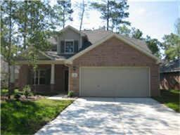 Popular Chesmar ''Hoshi'' Plan conveniently located in the heart of Sterling Ridge.  Open floor plan.  High ceilings in family room provide a spacious feel.  Tons of windows.  Neutral tones throughout.  Tile in entry, breakfast area, kitchen, bathrooms and laundry.  Master suite located downstairs. Game room plus 3 bedrooms are located upstairs.  Double Pane Low-E Windows.  Refrigerator/Dryer included. Sprinkler System. Easy access to Woodlands Parkway and 2978.  Close to shopping, dining, exemplary schools, park & ride, tennis courts, awesome area pool, park, bike trails and much more!