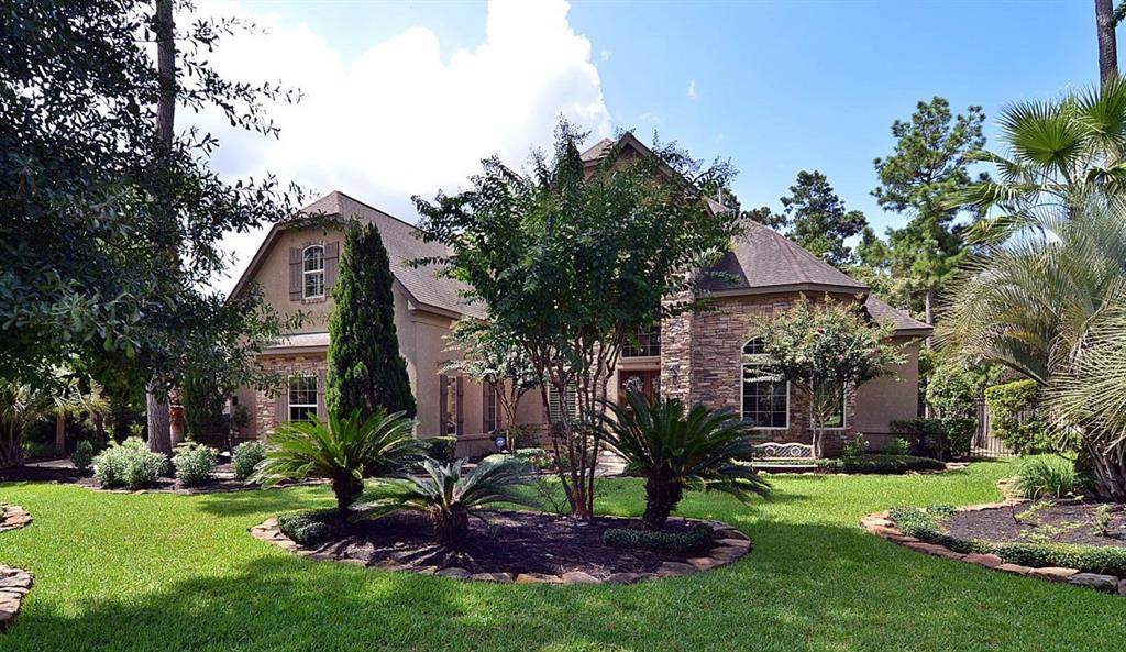 INVESTORS & BUYERS Lease in place til 4/30/21---Gorgeous Tommy Bailey Custom in PLAYER WOODS on an oversized corner lot of a small culdesac! This home is outstanding and features a park like lot with privacy, pool and spa, summer kitchen with fireplace and several lounging areas making it perfect for entertaining. The architectural detail and quality workmanship shine throughout the home. New improvements include entire interior paint, all flatwork, front and back, pressure washed, additional exterior lighting and complete refresh of landscaping.