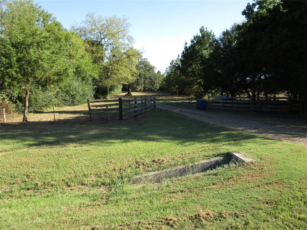 COUNTRY RETREAT : FROM THE MOMENT YOU ENTER THE PROPERTY, YOU FEEL THE PRIVACY. WINDING DRIVE TAKES YOU BY THE PINE TREE FARM. OPEN PASTURES AND SMALL GUEST HOUSE. OLDER VERY WELL MAINTAINED HOME IN VERY GOOD CONDITION. THE PROPERTY IS FENCED AND CROSS FENCED FOR COWS, OR HORSES. NICE BARN FOR EQUIPMENT AND COMPLETE WITH HORSE STALLS. WITH NEIGHBORING WOODED TRACTS, HUNTING DEER AND HOGS A PLUS.
