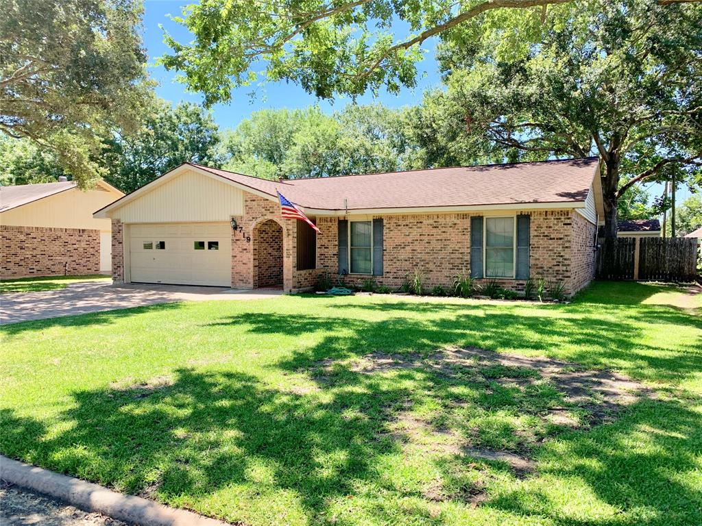 Hello from 719 John Albert Drive! This cozy, 3 bedroom, 2 bath home is 1437 square foot of pure charm! It is sitting on over a 10,000 square foot lot in the heart of East Bernard. With just a short bike ride to EBISD your family can enjoy neighborhood living with everything you need at your fingertips! The backyard is fully fenced and includes a 330 sq. ft. shop! And, located only a block away from the city pool, this starter home won't last long!