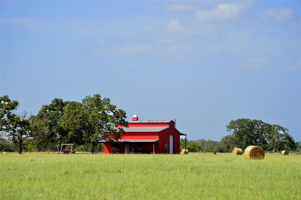 Adorable Barndo on 33 acres. Perfect weekend hideout just as it sits. Plus a beautiful building site for a future home. Located in the highly sought after Anderson ISD on Lake Irene Rd, just off Hwy 90. The barn is 36 X 70 under roof but only Approximately 650 Sq Ft heated space. 2 bedrooms, 1 full bath, utility room kitchen/living area. The open-air living area is an additional 800 Sq Ft, heated by wood-burning stove.Bring the Livestock, 4-wheelers, go hunting, or fishing. Great place to just get out of the city.Unrestricted. Luscious green pastures with huge scattered oaks. Fishing pond and lots of wildlife in the area.