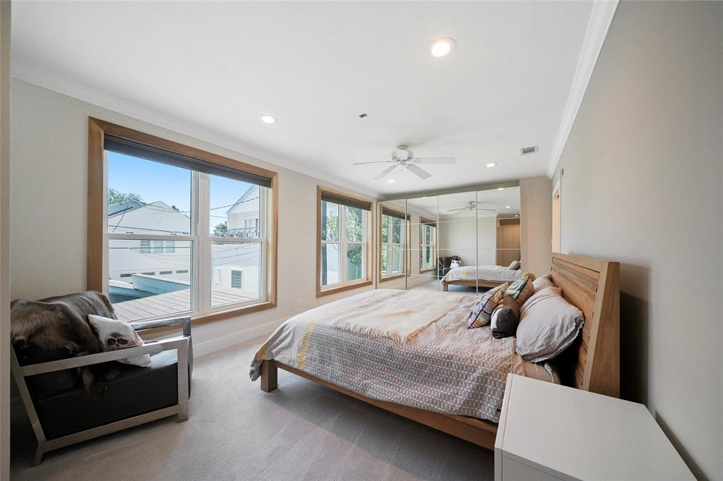 Master bedroom is spacious and bright.