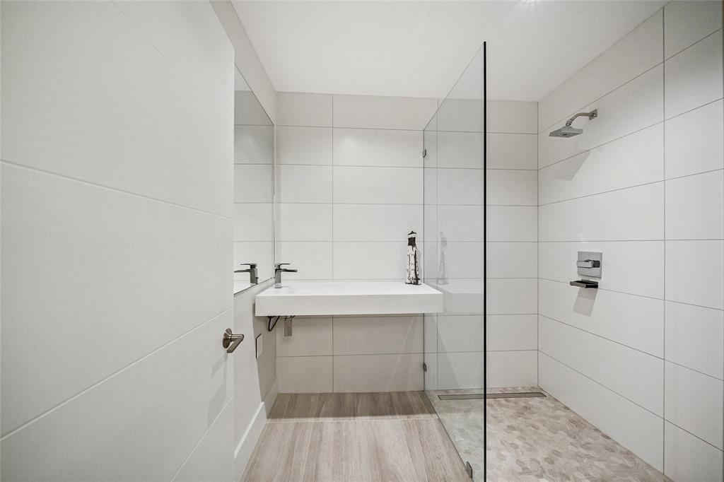 The second full bath is also remodeled with sleek fixtures.