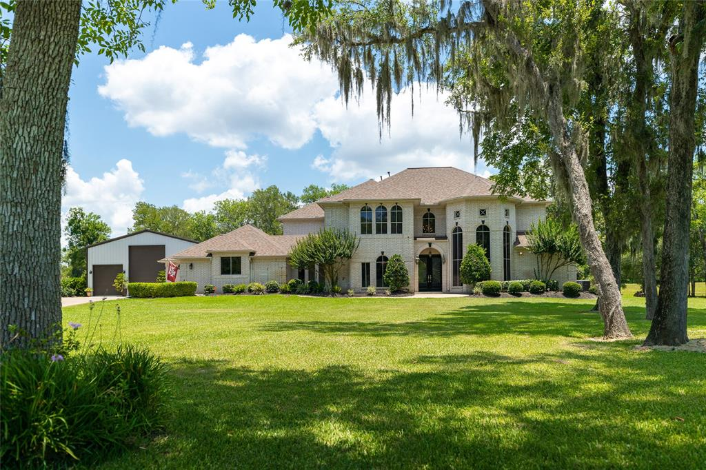 This stunning piece of property is on 2 acres of absolute serenity. Close proximity to the amenities that greater Houston has to offer, but tucked away in the estate community of Sienna Point. This breathtaking home has been extensively updated with high end finishes.  Harwood floors on the entire main floor with the exception of restrooms.  All four bathrooms were completely remodeled with frameless showers, quartzite and custom sinks.  Master bath has a gorgeous stand alone tub, gorgeous shower and large walk in closet.  Stainless steel appliances, sub zero fridge, GE monogram six burner gas range with double ovens, ice maker, GE monogram dishwasher, Dacor oven & microwave.  Pot filler and custom hood fan, farmhouse sink, three fireplaces, mud room, two studies, game room/media and much more!!  Outdoor oasis with pool and out door kitchen.  New roof and radiant barrier 2016.  3 bay shop to fit your RV and boat & more!  Too many updates to list.  Schedule your private showing today.