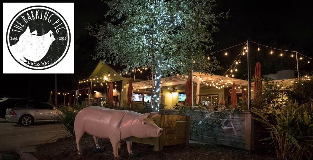 Enjoy the patio at neighborhood hangout The Barking Pig.