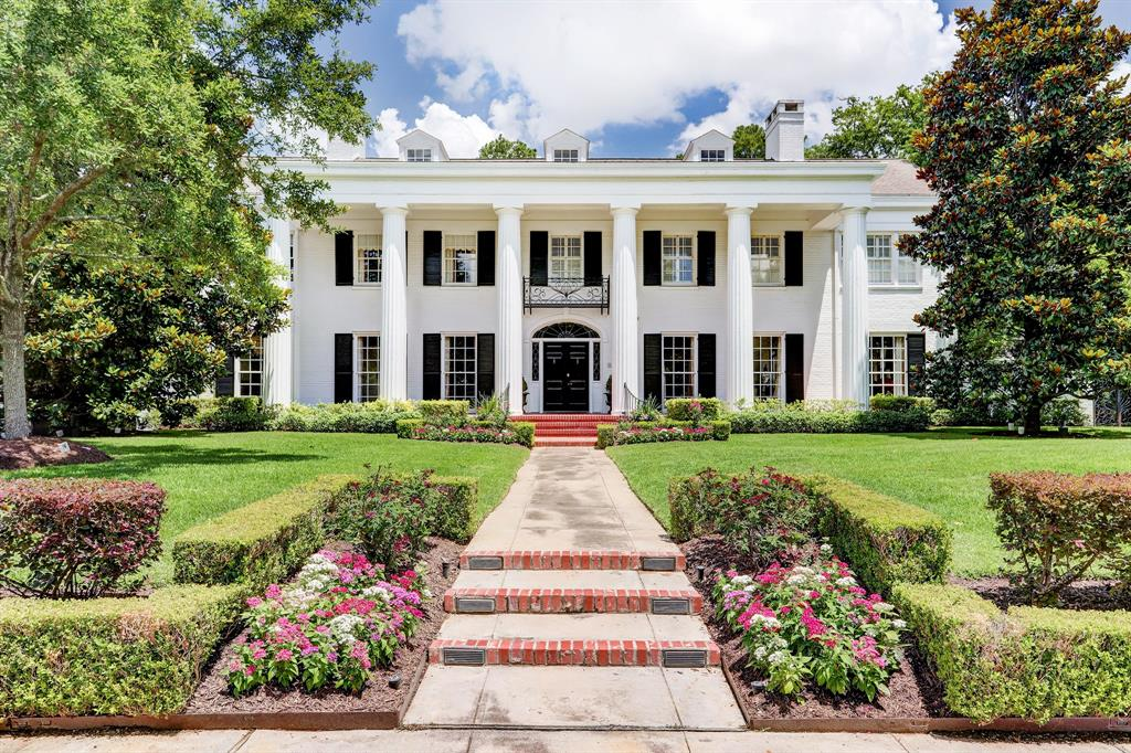 "A rare Houston treasure, originally designed by renowned architect, Hiram Salisbury set on a half acre lot in the heart of River Oaks. Tasteful and elegant of supreme quality enlarged (10,150sf ""per owners"") and improved by current owners. Oversized, welcoming Entry with gracious staircase, grand Formal Living Room and Dining Room for fabulous entertaining possibilities. Handsome wood paneled Study w/built-ins and back yard views. Gourmet Kitchen with abundant storage, multiple work spaces and quality appliances.  Spacious Family Room with pool & yard view, as well as a Cabana Room with Kitchenette. Upstairs is a grand primary bedroom, plus five additional spacious bedrooms, with a cozy den/media room and private upstairs office space, full Quarters with kitchenette & private entry, and a work-out/flex space. An elegant pool with slate surround, fenced side lot yard and inviting covered porch w/Summer Kitchen, 3 car garage w/extra parking/game space. Truly exceptional!"