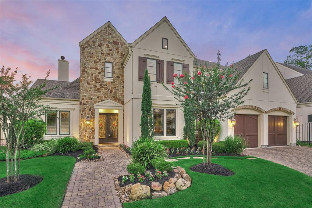 "Gorgeous Frankel Custom Home in the Gated ""Front of The Woodlands"" Neighborhood of Parkgate Reserve.  Outstanding Curb Appeal w/Stone & Stucco Elevation, Lush Landscaping, Well Designed & Appointed Interior, Exceptional Finishes Including Wood & Travertine Flooring, Exposed Beam Ceilings, Plantation Shutters, Crestron Home Surround System, Gourmet Kitchen w/SS Viking Appliances, Wine Cooler, Butler's Pantry & an Abundance of Counter Space & Storage Overlooking the Spacious Family Room & Formal Dining Room w/Custom Built-In Cabinet.  Lovely Master Suite, Study & Media Room Conveniently Located on the 1st Floor. 3 En Suite Bedrooms & Spacious Game Room Up. PRIVATE Backyard Oasis Features a Covered Outdoor Living Area, Beautiful Pool & Spa, Summer Kitchen & Gas Log Fireplace. Outstanding Energy Features Include LEED Green Home Certification and Icylene (Spray Foam) Insulation Keeps Attic Areas Cool & Utility Costs Low.  LOW TAXES & NO FLOODING!  Walking Distance to Restaurants & Shopping!"