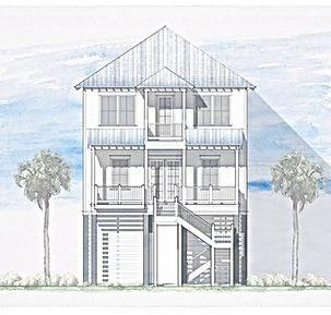 Beautiful 4 bedroom, 4 bathroom New Construction centrally located along Beachtown's tree-lined passageways. Home features shiplap walls, large island kitchen, built-in bunk beds and over-sized porch with Azek decking. Only a few steps away from the communities town center, enjoy this home's perfect location. Home is built to Fortified (150 MPH) construction standards by the predominant builder in the community and features the latest in energy efficient construction methods. Elevator ready. Great views of the beach and promenade!