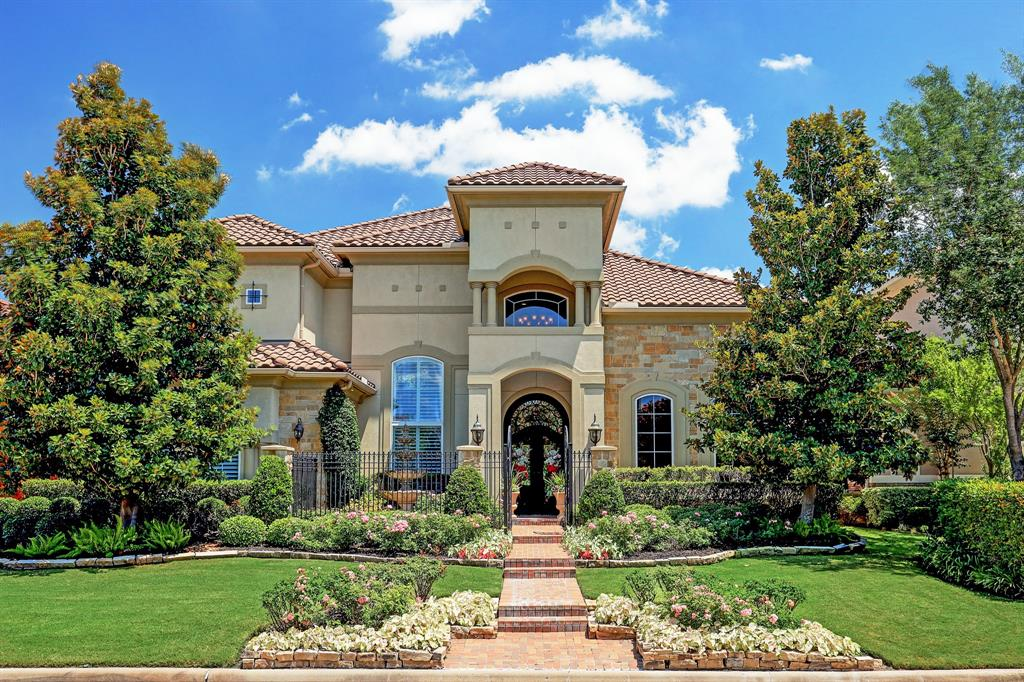 Immaculate golf course estate! Breathtaking gated entry w/ fountain & extensive landscape,2 story foyer with sweeping iron staircase,Travertine floors,executive study w/ privacy doors & rich paneling,expansive formal living & dining room with pool view,sprawling updated gourmet kitchen with dual island,Wolf & SubZero appliances,quartzite countertops,walk in pantry,wine grotto,surround sound,master retreat at 1st floor w/ sitting area,Spa like bathroom w/ large walk in steam shower,boutique style closet,elevator ready,game/billiard room w/ balcony access + hidden room (poss. media/flex space) w/ kitchenette,stunning guest rooms w/ bath in suite,plantation shutters & custom window coverings thru out,pool built in 2015 with cascade waterfall wall,summer kitchen with outdoor living & dining area,outdoor speakers,security system w/ cameras,AMAZING views of the 15th green and lake/waterfall on the 16th hole, privacy, great elevation over the course,plenty of guest parking-A true destination!