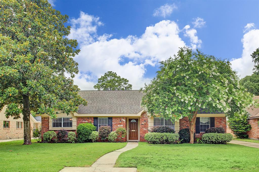 Welcome to this immaculate ranch style home in the heart of Houston.  This 4 Bedrooms, 2 ½ baths, 2 car garage home sits comfortably in a cul-de-sac in Candlelight Estates.  Remodeled with recent upgrades including flooring (2020), interior and exterior paint (2020),  ductwork (2020), Garage door (2020), and water heater (2019).  Formal Living and Dining rooms are ready for your family get togethers.  The kitchen features plenty of storage space, Corian countertops and GE/Electrolux appliances which make entertaining a true delight.  The den features a large picture window and fireplace.  Large primary bedroom features full bath with shower and his/her closets.   The fully landscaped backyard is ideal for entertaining and relaxing with a spacious covered patio and pool ( pool pump 2020).  Never Flooded.  Easy access to Galleria, Downtown, and Greenway Plaza.
