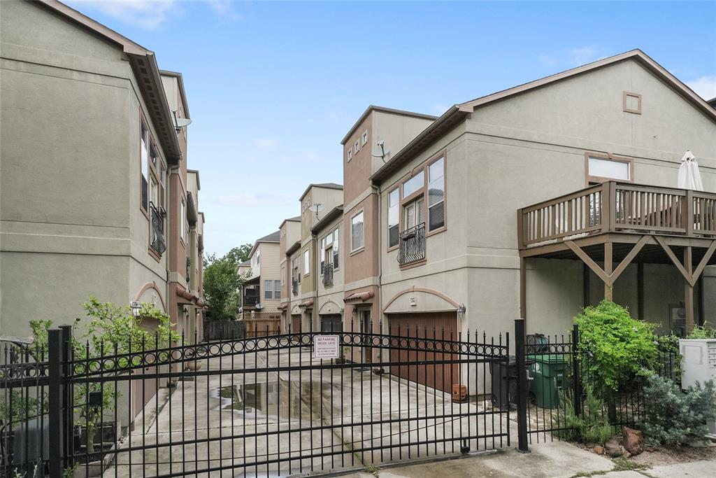 This gated community includes an automatic gate and a two car wide driveway.