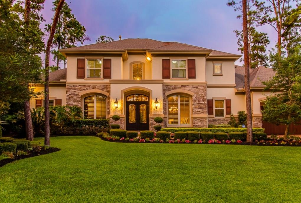 Immaculate home with resort-style backyard oasis in Carlton Woods! Five bedroom home on cul-de-sac w-abundant mill work, stone floors, gourmet kitchen w-adjacent wine room & breakfast room. Both formals flow together for perfect entertaining! Warm & inviting family living areas including den & gameroom. Elegant master suite with barrel vaulted ceiling in bath. Expansive windows overlook the amazing outdoor living space w-outdoor kitchen, cabana & unique pool/spa. Please view pictures for details