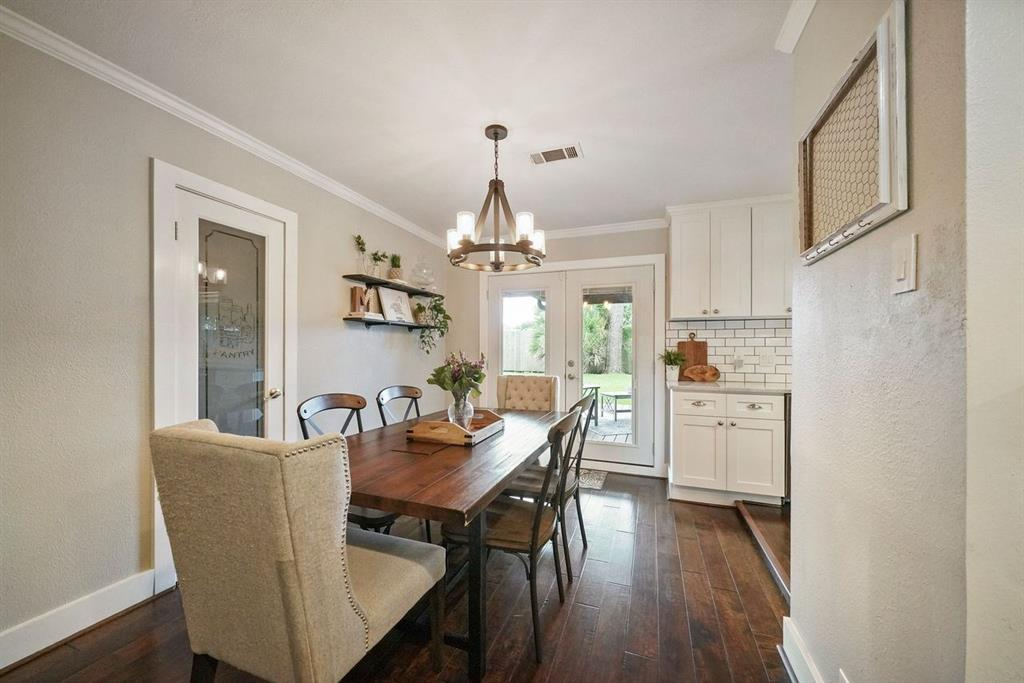 Notice the large pantry and beautiful fixtures.