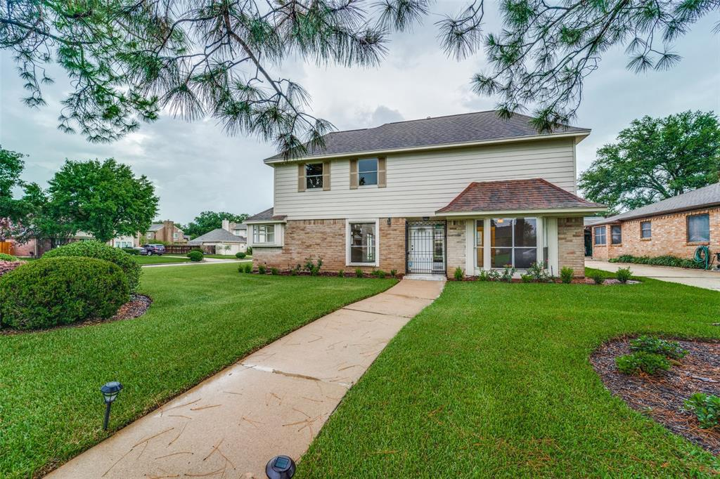 This completely remodeled open concept home in the highly sought after Sugar Creek neighborhood is filled with natural light and high ceilings. It features 4 bedrooms and 2 1/2 baths with the master on the first floor. This house sits on a corner lot with a HUGE backyard. The kitchen has been brought to life with new granite countertops, custom backsplash, new cabinetry, new GE stainless steel appliances and more! The master retreat has a breathtaking walk in shower and fully remodeled bathroom. Other updates include - lifetime transferable foundation repair warranty, new flooring (No Carpet!), new light fixtures, custom iron hand railings, interior paint, recent HVAC and so much more. Check out the virtual 3D tour and don't wait to schedule your showing today!