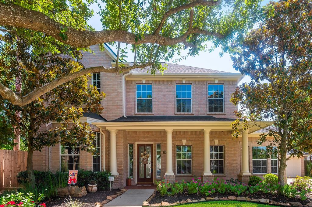 Nostalgic 4/3.5/3 car garage home w/a charming front porch w/columns on an interior oversized cul-de-sac lot. Fabulous pool/spa w/many updates(inc. Pebble Tec, Pool Heater, pool Pump, and Coping). The breakfast room has very nice windows to the front and the Primary Room has French Doors w/a patio out to the pool and 2 Large walk-in closets w/ shelving.  The bkyd is very spacious w/an iron gate separating the pool & green space w/a new wood fence along w/ a fully brick rear exterior as well. The Roof & downstairs AC are approx.2yrs. new.  The 1st floor is complete w/ the Wood look tile throughout and the second floor is complete w/new carpet July/2020.  Coles Crossing has many natural trails and ponds, two community pools, a splash pad, tennis courts, a club house, and outstanding schools.