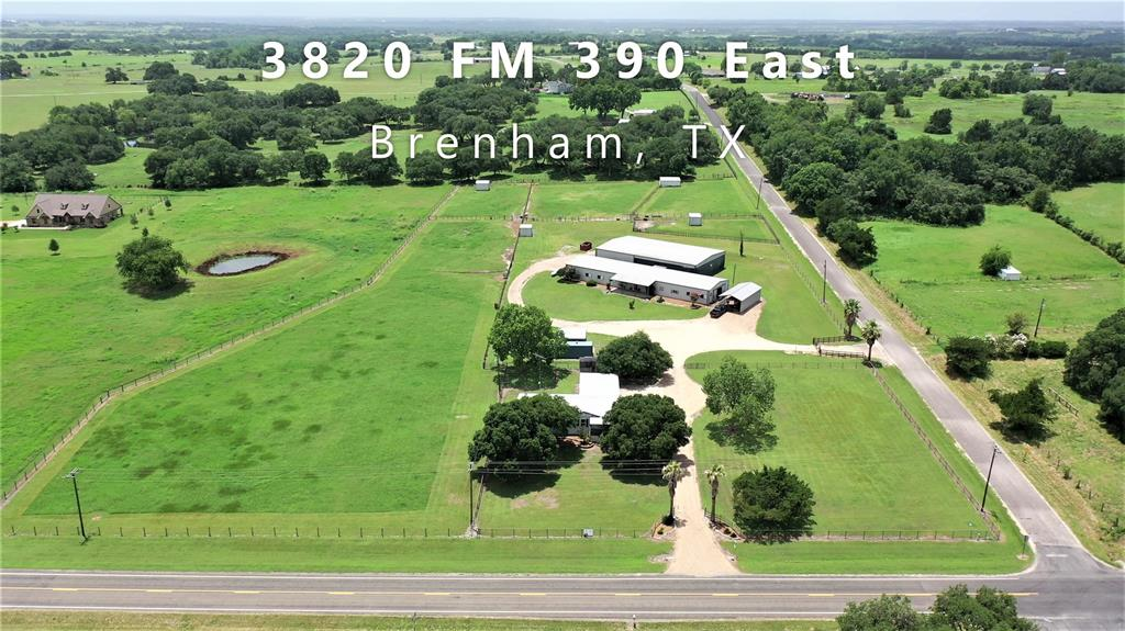 """Attention Horse lovers! Beautiful 7.358 acre property to set up your boarding/training business.  The Price Equine Ranch has produced 19 World Champions. Only minutes from Texas A&M University, Lake Somerville and the town of Brenham.  Home custom built for the Seller's family with 2""""x6"""" studs, insulated with storm windows, spacious with 4 bedrooms, 2.5 baths,  country kitchen with island that seats 6,  living plus den areas, dining room, laundry room with deep sink, front and back covered porches, 2 car carport, storage bldg and dog yard.  Horse barn with 13 stalls, fly spray system, 3-60,000 BTU heaters with propane tank, fans, tack room with washer/dryer, breeding/vet area, nice office area with air-conditioning and heat plus 1/2 bath, separate apartment with A/C, bath and small kitchen, stall side boards slid up to widen, if needed,  Arena barn with 2 foaling stalls, hay storage, and covered riding area."""