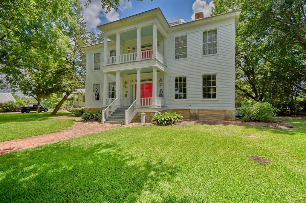 This historic Greek revival home built in 1857 is located in Chappell Hill, Texas. Just an hour's drive to Houston, this location is ideal for anyone who wants complete seclusion and privacy, country living, and quick access back to Houston.The property features a tree-lined driveway, a 5,228 square foot 5 bed, 5.5 bath historic home, a 647 square foot 2/2 guest home, a 3 stall horse barn with double sided doors and large tack room, large pool, log cabin, and beautiful century oaks surrounding the homesite. The 66.4 acres includes three paddocks for pasture rotation for horses and a 33 acre hay meadow that supports two or three cuttings a year.The main home has been lovingly restored and meticulously maintained. Recent updates include the metal roof, new exterior paint, upgraded insulation, restored woodwork, and much, much more. This is a unique property and a rare opportunity to own one of the true gems of Chappell Hill.