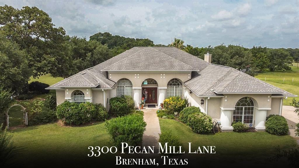 Get away from the hustle and bustle of the city and relocate to this secluded property on the outskirts of Brenham. Located approximately 7 miles from town, this 30 acre property boasts outstanding views and the serenity of the country while still being close to everything. This unrestricted 30 acre property features everything you could want, a pond, wet weather creek, clear areas for ag use, and wooded areas for hunting. The custom home features high ceilings throughout and is move in ready! Come take a look at this piece of paradise!