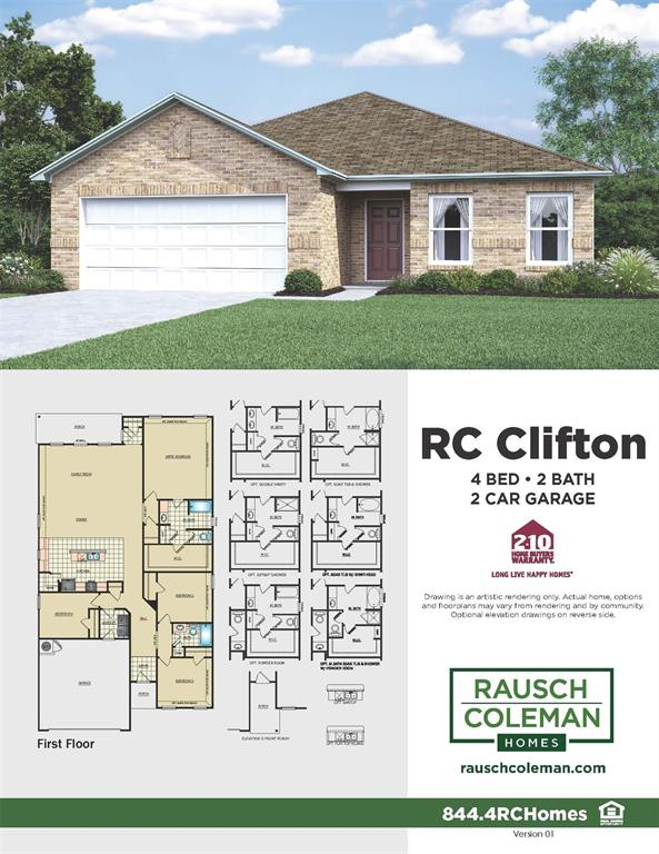 Darling 1 story home built by Rausch Coleman Homes! The beautiful new construction home has 4 bedrooms, 2 bathrooms, with 2 car garage! Schedule your visit today!