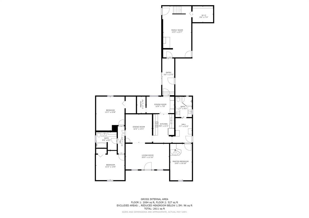 Floor plan showing the first floor.