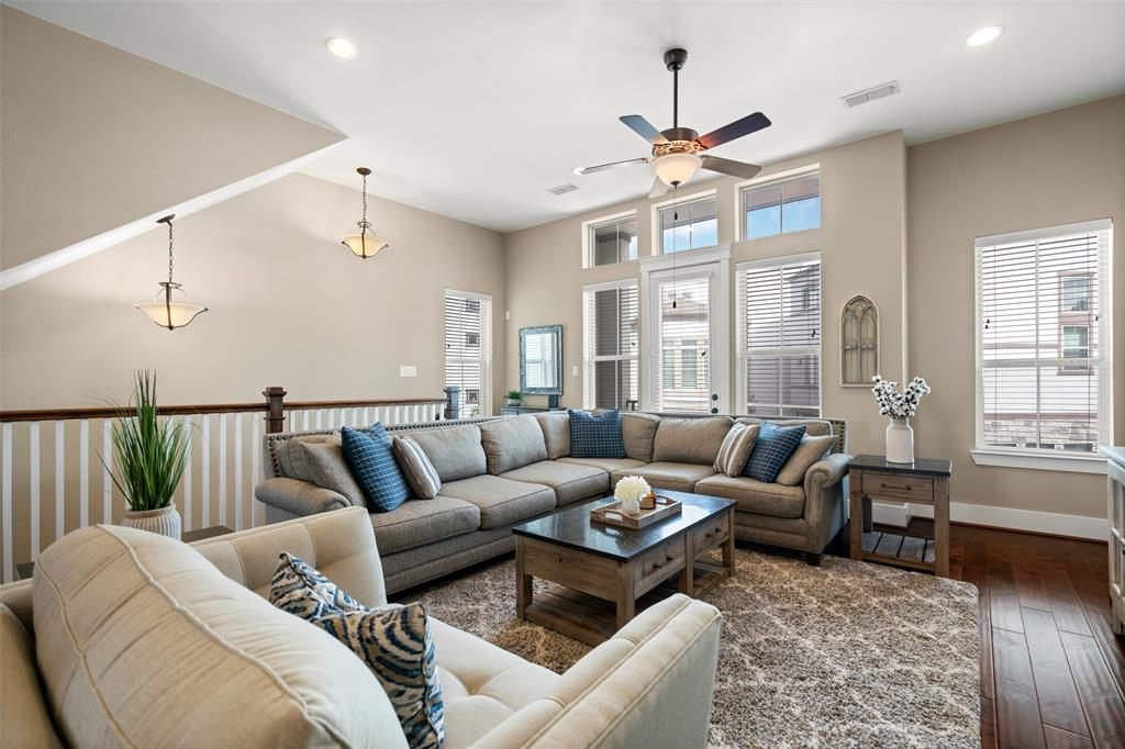 The spacious living area is a great space to relax with your family or watch the big game.