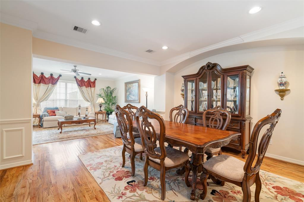 Dining space can easily accommodate a six or eight person dining table.