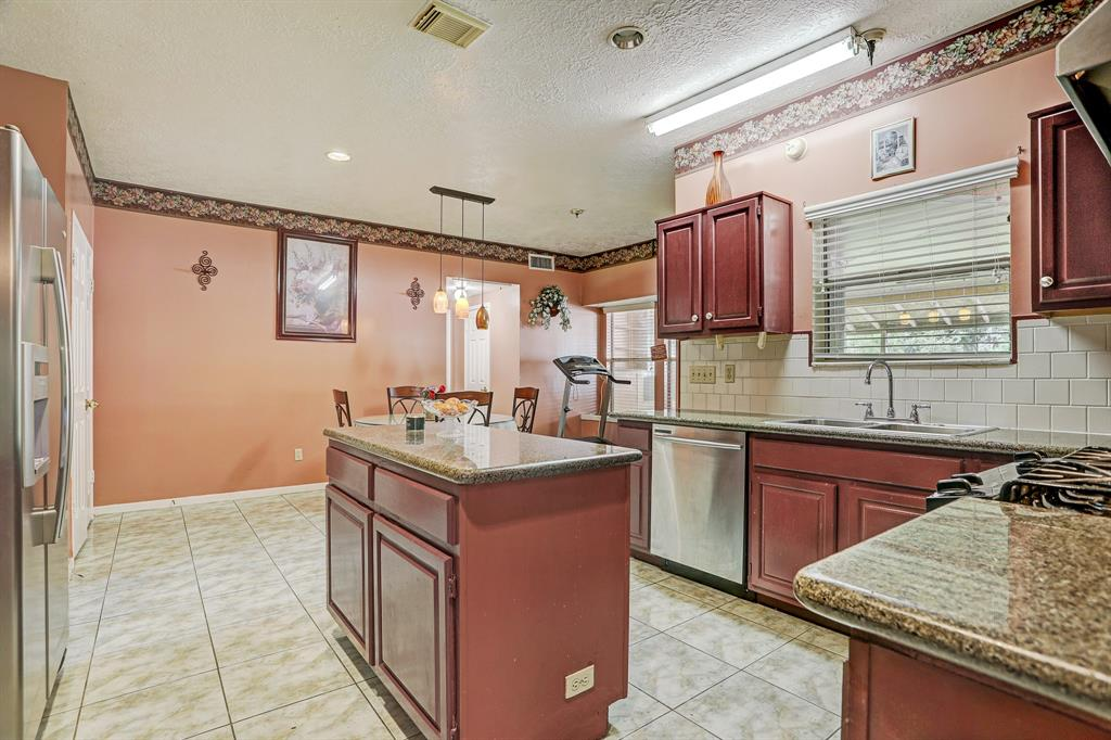 Kitchen has ample space and storage.
