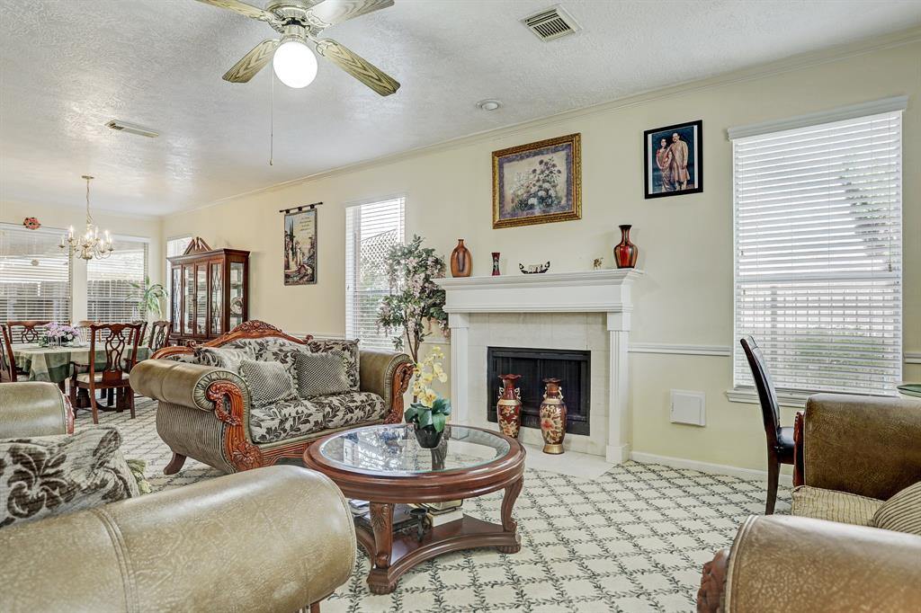 Beautiful family room opens to formal dining.