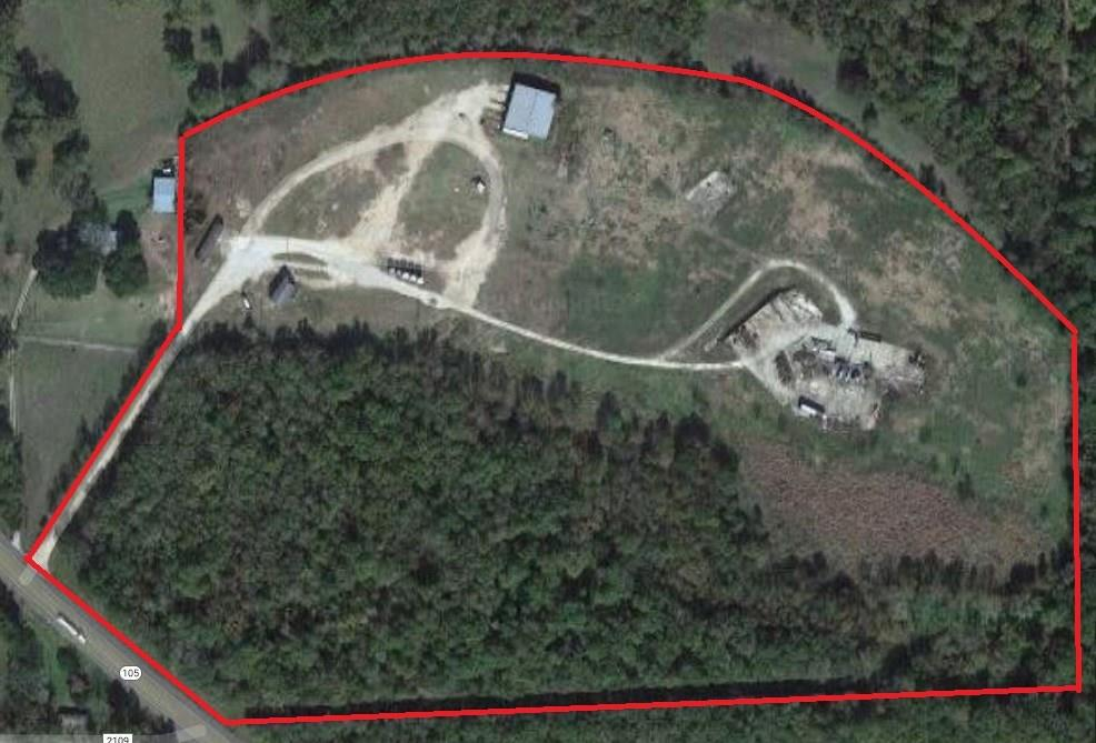 Approximately 42.368 acres of land that can be used as recreational or build a business. Property frontage approximately 300' on Highway 105.