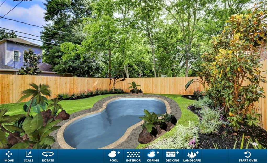 Incredible 2150 sqft yard space to build your dream pool. Virtual image.