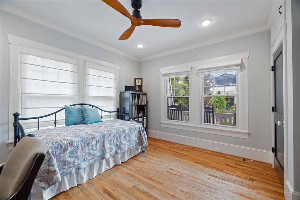 The secondary bedroom offers lots of function options.