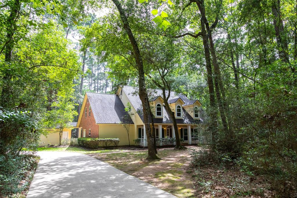 Incredible opportunity to lease a gorgeous custom built 5/6 bedroom on wooded private 2 acre lot with a stunning pool & spa! Wonderful location that is close to everything but secluded enough to make feel like you rented an Airbnb in the country. Features a a huge living room with fireplace, formal dining room, study down that could be 2nd bedroom, mahogany flooring, crown moldings, granite counter tops, large island kitchen with stainless steel appliances, double ovens, gas cook top, and fridge & washer and dryer are included. Primary suite is private with wood floors and direct access to the pool! En-suite features a whirlpool tub and separate shower, double sinks, built-ins, and two closets. Upstairs has 3 bedrooms all connected to bathrooms and a huge game room that could be another bedroom! Call for a private showing and make every day feel like a vacation!