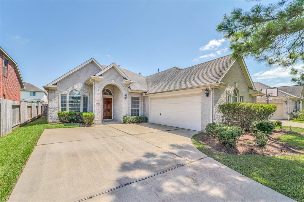 This beautiful single-story home is located in desirable Colony Lakes Estates and features an open concept kitchen, breakfast nook, and living room with hardwood floors that centers around an oversized island where family and friends can congregate. With granite counters and plenty of storage, plus a built in oven and microwave,  a gas cooktop, and a glass french door refrigerator, this kitchen is sure to please. The owner's suite features a large walk-in closet and dual vanities with a separate shower and tub. Additionally, there are two additional bedrooms, an office, a dining room, and utility room where washer and dryer are included.  The built-in sprinkler system keeps the grass green as you enjoy your BBQ fun on the covered back porch.  Easy access to HWY 6, HWY 59, HWY 90, and BW 8 offers quick commute to downtown, TMC, or West Houston. Close to nearby restaurants and shopping plus low property taxes and HOA fees. Come see this one before it is gone!