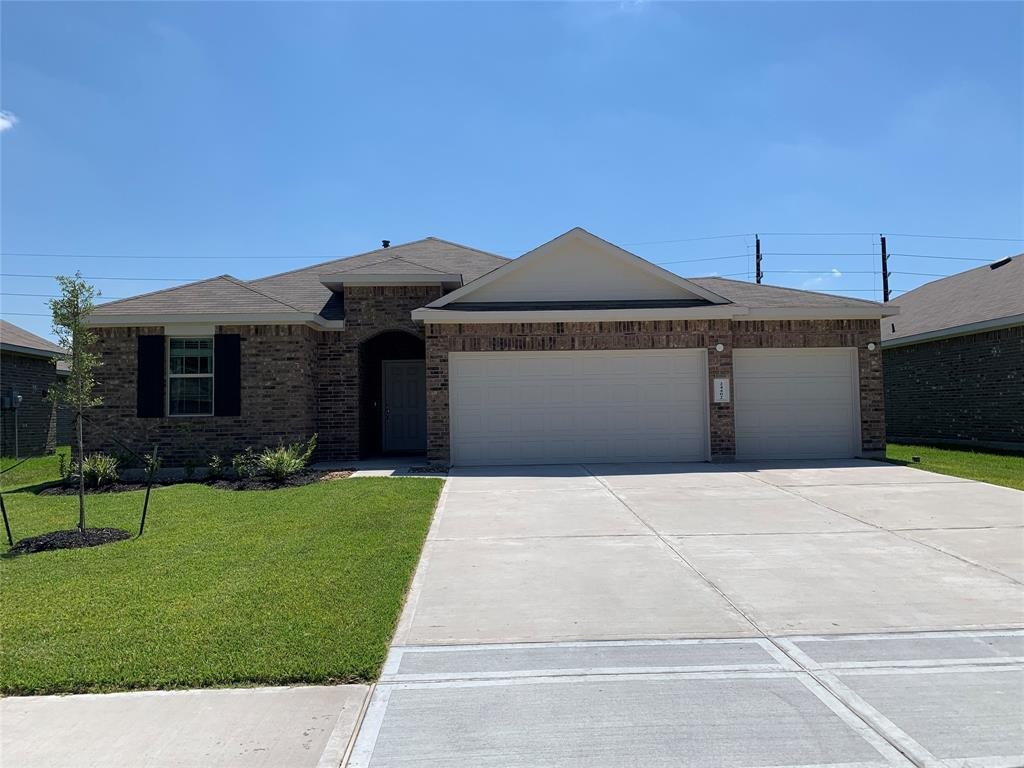You will love this 2019 one story home that offers 4 bedrooms, 2 full bathrooms, 3 car garage, cover back patio and a huge backyard. Large island kitchen with plenty cabinetry and countertop space. Refrigerator, washer and dryer are included. Excellent location near to The Woodlands and just minutes from Hwy 99 and easy access to mayor roads. Call us today to schedule your showing!
